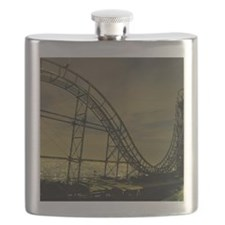Roller coaster night. Flask
