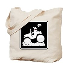 Mud Boggin Danger sign Tote Bag