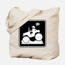 Mud Boggin Danger sign Tote Bag