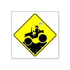 "Mud Boggin Diamond Placard Square Sticker 3"" x 3"""