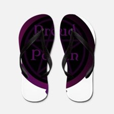 Proud Pagan with pentacle Flip Flops