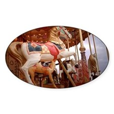 Looking up at a carousel horse Decal