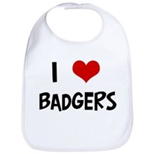 I Love Badgers Bib