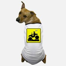 Mud Boggin Yellow Danger sign Dog T-Shirt