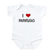 I Love Babirusas Infant Bodysuit