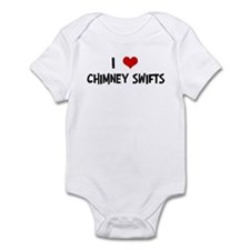 I Love Chimney Swifts Infant Bodysuit