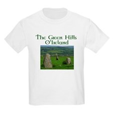 Green hills of Ireland Kids T-Shirt