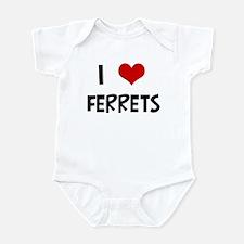 I Love Ferrets Infant Bodysuit