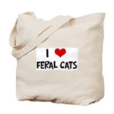 I Love Feral Cats Tote Bag