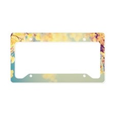 Autumn Yellow Paper Birch Tre License Plate Holder