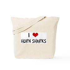 I Love Horn Sharks Tote Bag