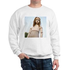 Girl mannequin outdoors, low angle view Sweatshirt