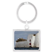 Beachy Head Lighthouses Landscape Keychain