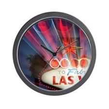 Neon sign for Las Vegas Wall Clock