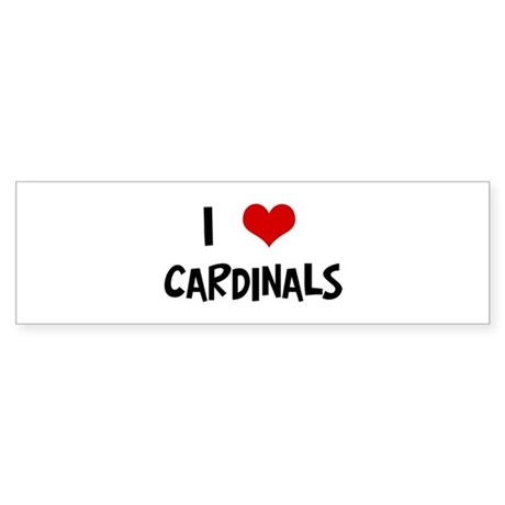 I Love Cardinals Bumper Sticker
