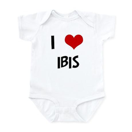 I Love Ibis Infant Bodysuit