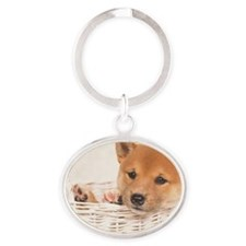 The Shiba Inu is the smallest of the Oval Keychain