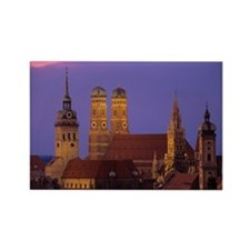 Germany, Munich, Neues Rathaus an Rectangle Magnet