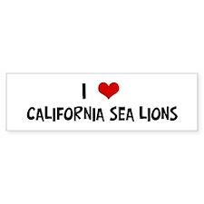 I Love California Sea Lions Bumper Bumper Sticker