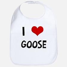 I Love Goose Bib