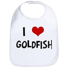 I Love Goldfish Bib