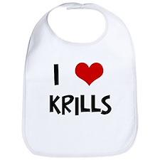 I Love Krills Bib