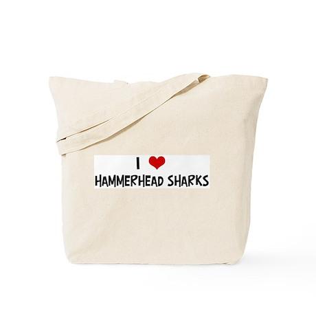 I Love Hammerhead Sharks Tote Bag