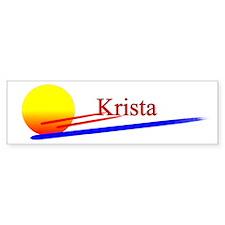 Krista Bumper Bumper Sticker