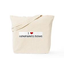 I Love Caenorhabditis Elegans Tote Bag