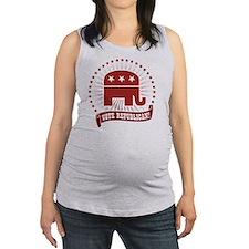 Vote Republican Maternity Tank Top