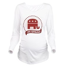 Vote Republican Long Sleeve Maternity T-Shirt