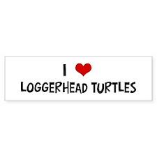 I Love Loggerhead Turtles Bumper Bumper Sticker