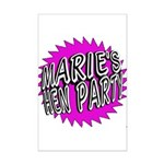 Maries Hen Party Poster Print (Mini)