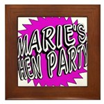Maries Hen Party Framed Tile