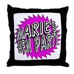Maries Hen Party Throw Pillow