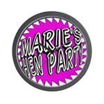 Maries Hen Party Wall Clock