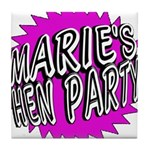 Maries Hen Party Tile Coaster