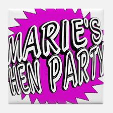 Maries Hen Party Tile Coaster