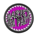 Maries Hen Party Large Wall Clock