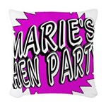 Maries Hen Party Woven Throw Pillow