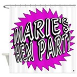Maries Hen Party Shower Curtain