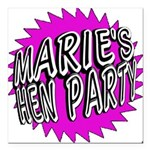 Maries Hen Party Square Car Magnet 3