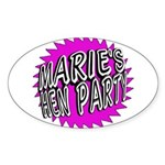 Maries Hen Party Sticker