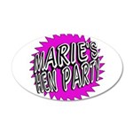 Maries Hen Party Wall Sticker