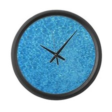 view of water in a swimming pool Large Wall Clock