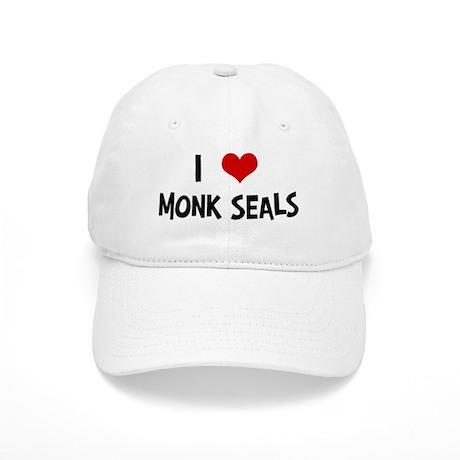 I Love Monk Seals Cap