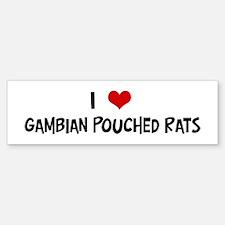 I Love Gambian Pouched Rats Bumper Car Car Sticker