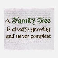 a Family Tree is...  Throw Blanket