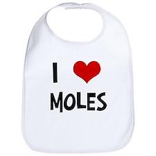 I Love Moles Bib