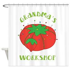 Grandmas Workshop Shower Curtain